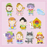 Cartoon story people icons Stock Photo
