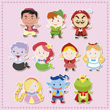 Cartoon story people icons Stock Photos