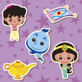 Cartoon story people icons Royalty Free Stock Images