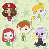 Cartoon story people icons Stock Image