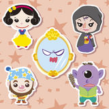 Cartoon story people icons Stock Images