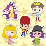 Cartoon story people icons Royalty Free Stock Photos