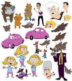 Cartoon Story Vector Illustrations Royalty Free Stock Photography