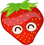 Cartoon strawberry Stock Photos