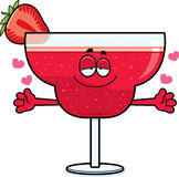 Cartoon Strawberry Daiquiri Hug Stock Photography