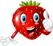 Cartoon strawberry giving thumbs up Stock Images