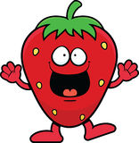 Cartoon Strawberry Happy Royalty Free Stock Photography
