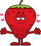 Cartoon Strawberry Hug Royalty Free Stock Images