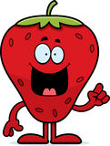 Cartoon Strawberry Idea Stock Images