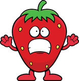 Cartoon Strawberry Scared Royalty Free Stock Photo