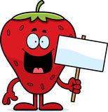 Cartoon Strawberry Sign Stock Images
