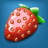 Cartoon strawberry. Vector illustration. Royalty Free Stock Photography