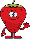 Cartoon Strawberry Waving Royalty Free Stock Images