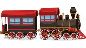 Cartoon stream train engine Stock Image