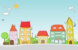 Cartoon street Stock Photos