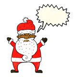 Cartoon stressed out santa with speech bubble Stock Photography