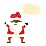 Cartoon stressed out santa with speech bubble Royalty Free Stock Images