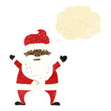Cartoon stressed out santa with thought bubble Stock Images