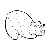 Cartoon stretching bear Royalty Free Stock Image