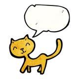 Cartoon stretching cat Stock Photo