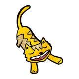 Cartoon stretching cat Stock Photography
