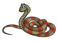 Cartoon striped snake Royalty Free Stock Photos