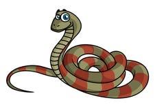 Cartoon striped snake Royalty Free Stock Photos