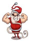 Cartoon Strong Body Builder Santa Claus. Royalty Free Stock Photography
