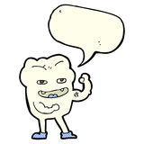 cartoon strong healthy tooth with speech bubble Royalty Free Stock Photo