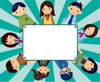 Cartoon student card Stock Photography