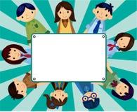 Cartoon student card Stock Photography