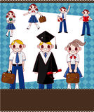 Cartoon student card Stock Images