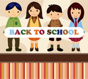Cartoon Student Card/back To School Royalty Free Stock Photography