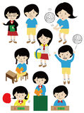 Cartoon student icon Stock Image