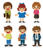Cartoon student icon. Vector,illustration Stock Images