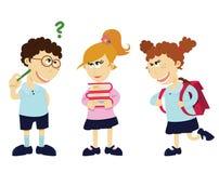 Cartoon students Royalty Free Stock Photo