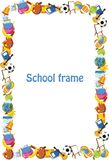 Cartoon students and school stuffs,vector. Illustration picture Royalty Free Stock Photos