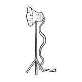 Cartoon studio lamp shining Royalty Free Stock Image