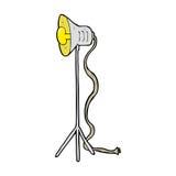 Cartoon studio lamp shining Royalty Free Stock Photos
