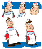 Cartoon study of a chef. A group of study drawings of a cartoon character of  a chef Royalty Free Stock Photo