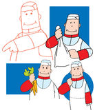 Cartoon study of a chef Royalty Free Stock Photos
