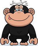 Cartoon Stupid Chimpanzee Stock Photo