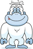 Cartoon Stupid Yeti Royalty Free Stock Image