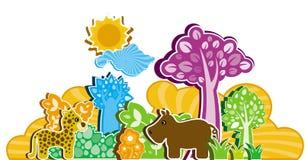 Cartoon style animals Stock Images