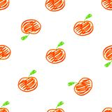 Cartoon Style Apples Motif Seamless Pattern. Conversational cartoon style seamless pattern design with apples motif in red colors over white vector illustration