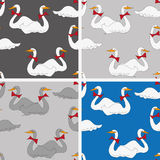 Cartoon-style  background with geese Royalty Free Stock Photos