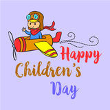 Cartoon style childrens day collection Royalty Free Stock Images