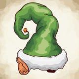 Cartoon Style Christmas Elf Hat Costume, Vector Illustration royalty free stock photography