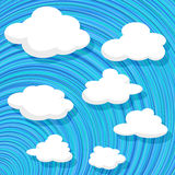 Cartoon style clouds Royalty Free Stock Images