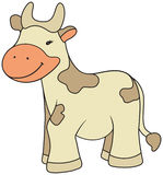 Cartoon style cow illustration Royalty Free Stock Images